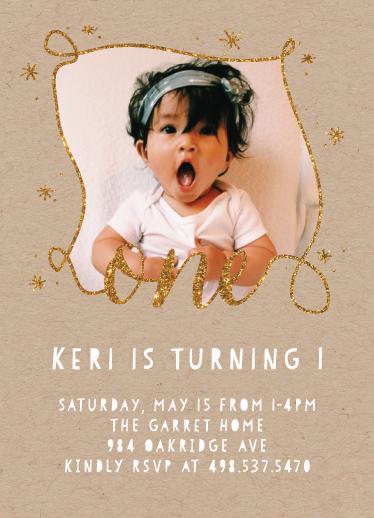 birthday party invitations - one full of glitter by ashnee eiram