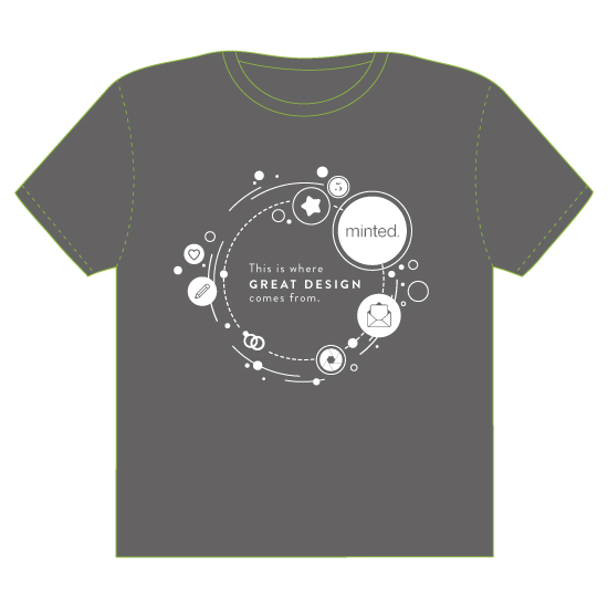 minted t-shirt design - the circle of minted by Anastasia Makarova