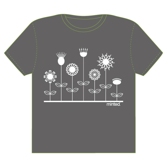 minted t-shirt design - Petals Spell It Out by Kathleen Petit