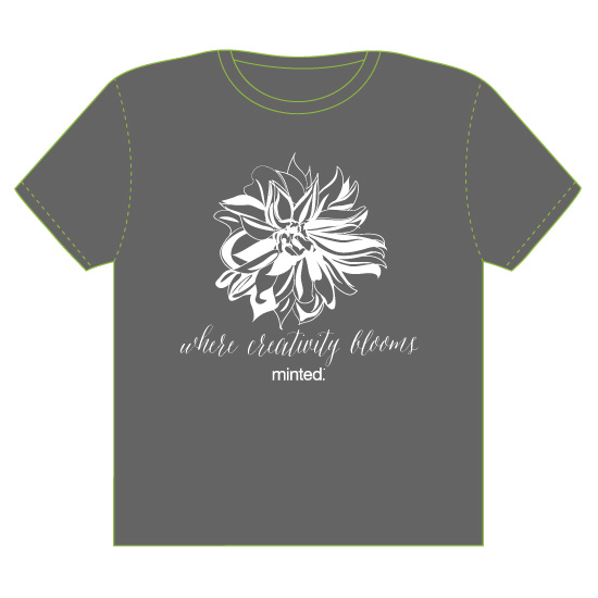 minted t-shirt design - Where Creativity Blooms by Susan Moyal