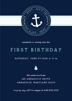 Sailing Away Birthday