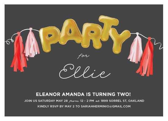 birthday party invitations - Mylar by Haley Warner