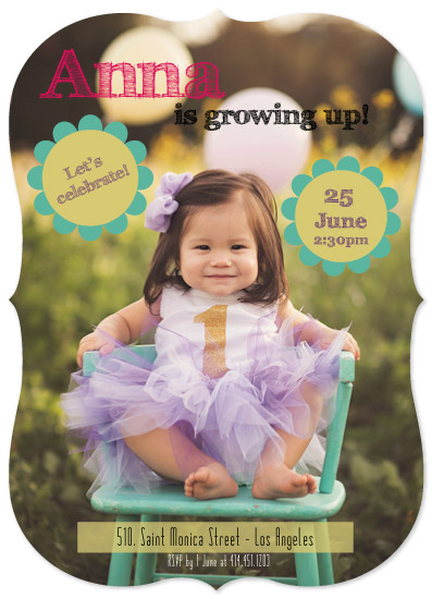 birthday party invitations - Growing Up by Juliana Motzko