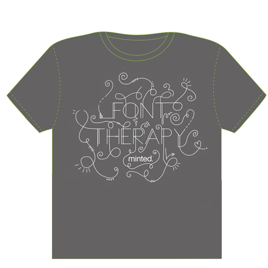minted t-shirt design - Font Therapy by The Tattered Traveler