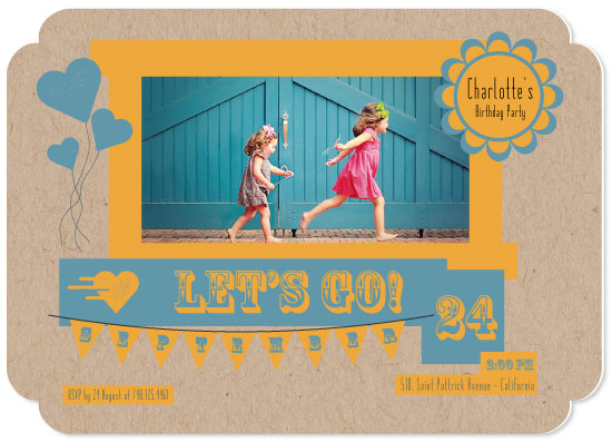 birthday party invitations - Let's go! by Juliana Motzko
