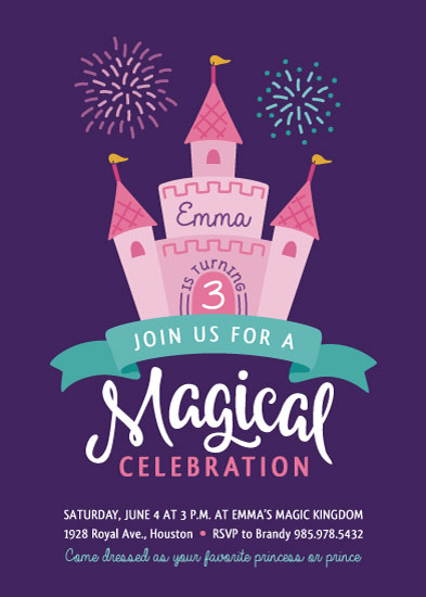 birthday party invitations - Magical Celebration by Mandy Porta
