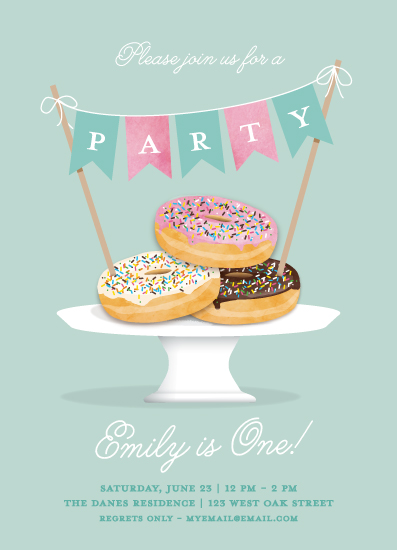 birthday party invitations - Everyone Loves Donuts by Paper Dahlia
