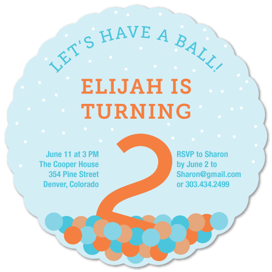 birthday party invitations - Let's Have a Ball by Lisa Weber