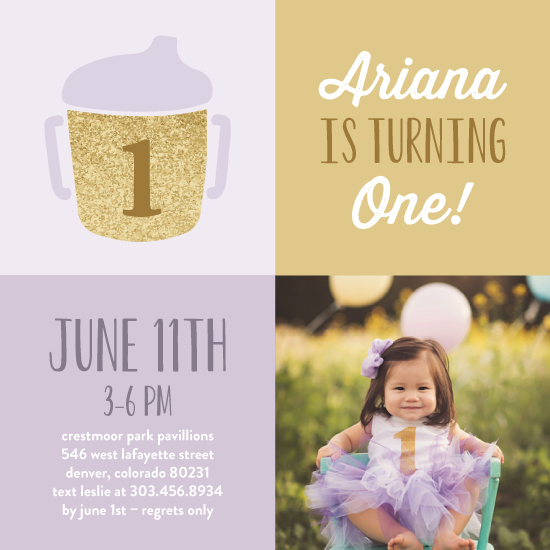 birthday party invitations - Modern & Elegant First by Lisa Weber