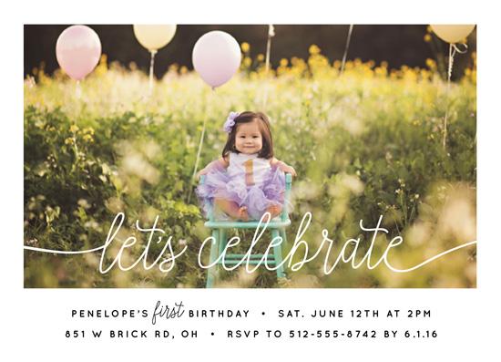 birthday party invitations - Let's Celebrate a Birthday by Christine Taylor