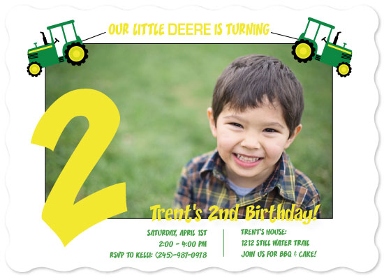 birthday party invitations - Deere Birthday by JOHNONE 3 DESIGNS