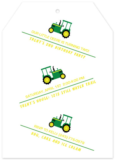 birthday party invitations - Tractor Fun by JOHNONE 3 DESIGNS