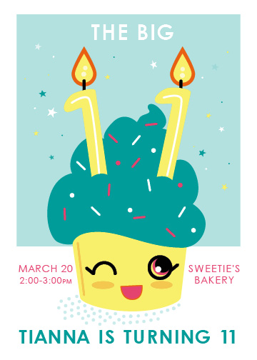 birthday party invitations - Sweet Celebrations by Katherine Franzen