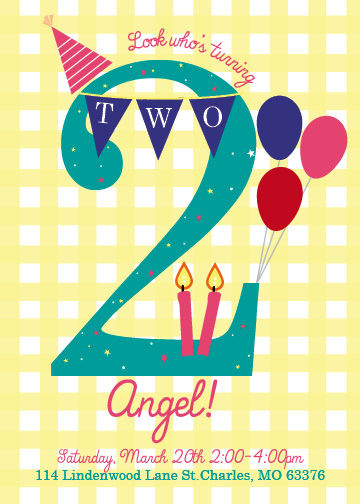 birthday party invitations - Sweet Birthday Number by Katherine Franzen