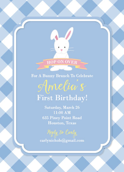 birthday party invitations - Hop on Over by Texas Girls