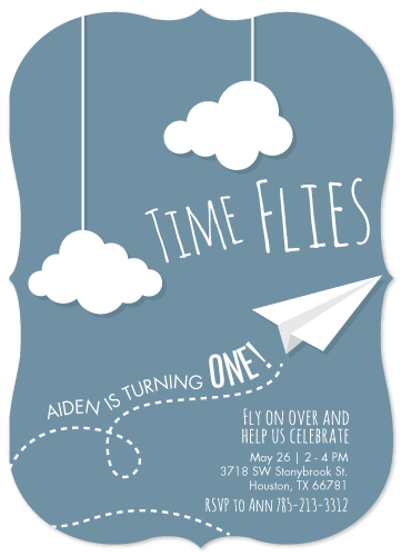 birthday party invitations - Time Flies by Sara Batman