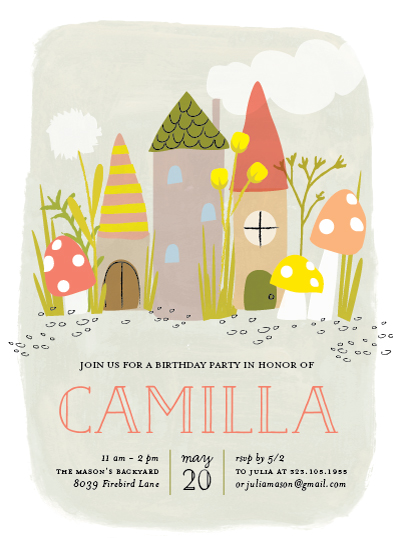 birthday party invitations - In the fairy garden by Frooted Design