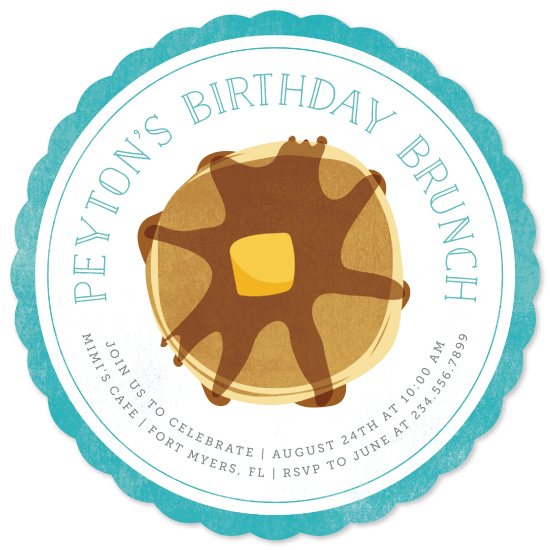 birthday party invitations - Birthday Brunch by Kelly Nasuta