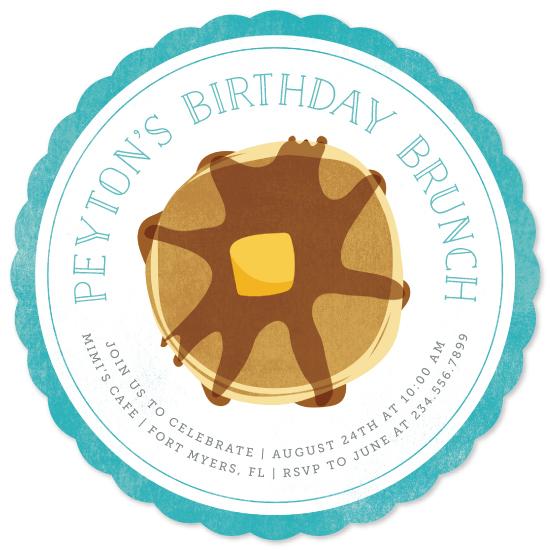 birthday party invitations - Birthday Brunch by Kelly Nasuta