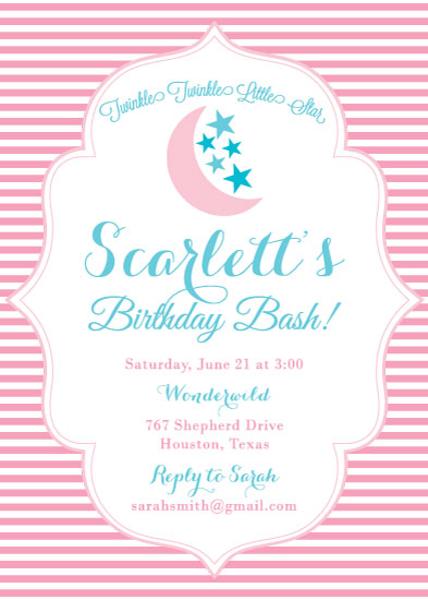 birthday party invitations - Twinkling Stars by Texas Girls