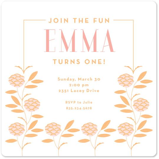 birthday party invitations - Blossom Baby by Becky Hoppmann