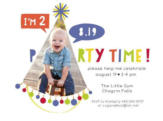 birthday party invitations - Any Age Party Hat by Anastasia B. Kijewski
