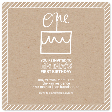 birthday party invitations - oh, cake! by JK Design