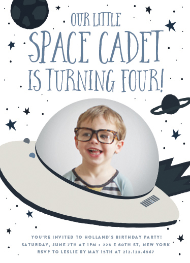 birthday party invitations - Space Cadet by Jennifer Lew