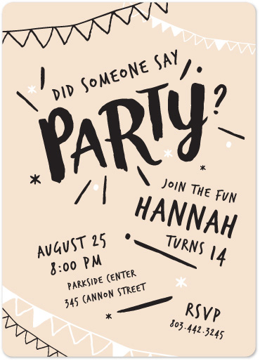 birthday party invitations - Did Someone Say Party? by Becky Hoppmann