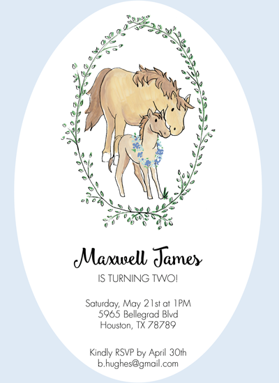 birthday party invitations - Horsing Around by Claire Nordloh