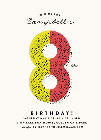 birthday party invitations - Dotted by Roxy Cervantes