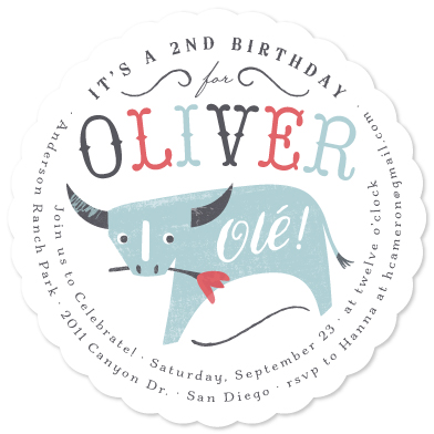 birthday party invitations - Olé by Griffinbell Paper Co.
