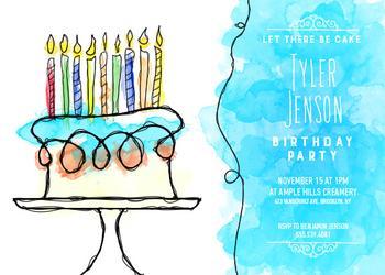 Wonderful Watercolor Birthday