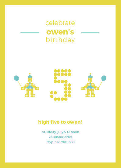 birthday party invitations - Do the Robot Dance by carmengolden