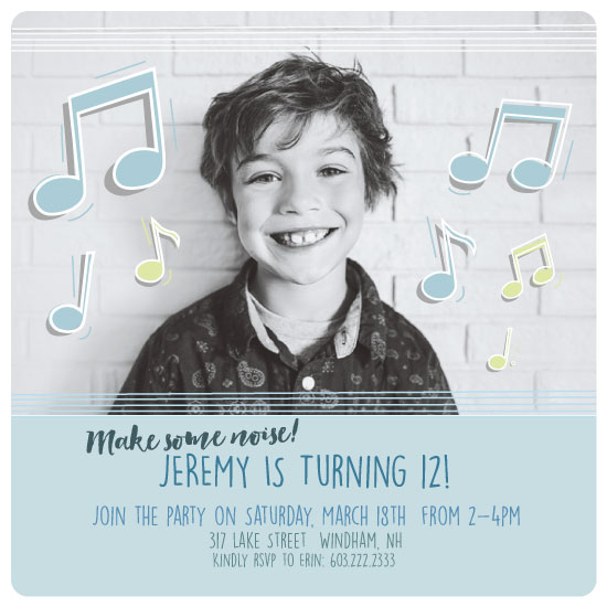 birthday party invitations - Make some noise by Tennie and Co.