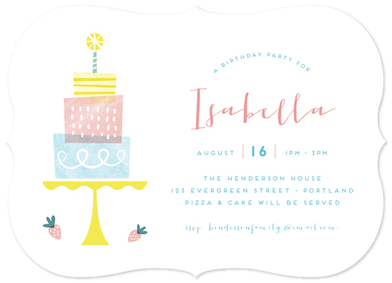 birthday party invitations - Three Tiers by Shannon Hays