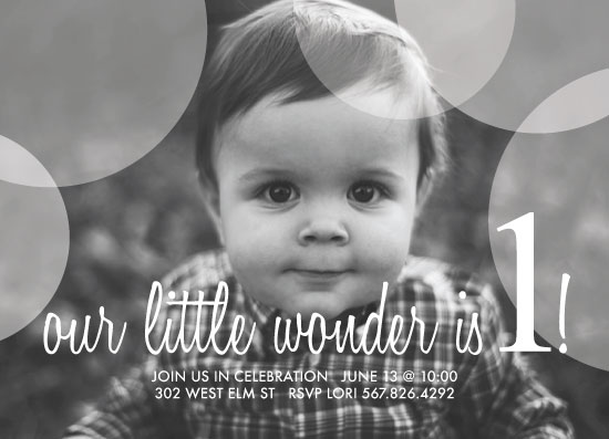 birthday party invitations - Little Wonder by Jenn Wheat