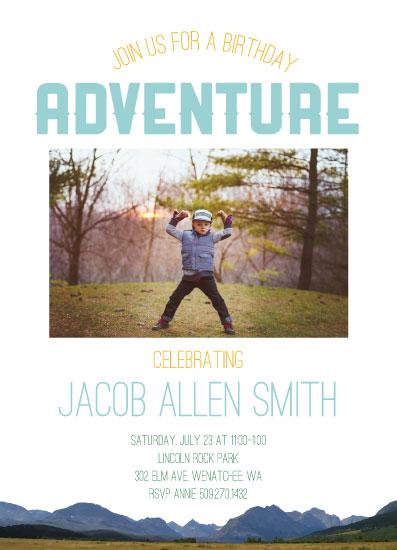 birthday party invitations - Adventure by Jenn Wheat