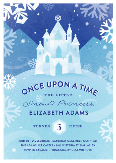 birthday party invitations - Ice Castle by Jessica Ogden