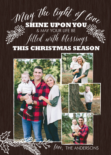 holiday photo cards - Light of Love by Molly Burch