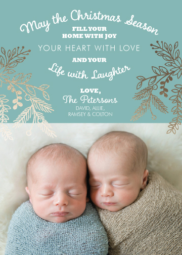 holiday photo cards - Joyful Home & Loving Heart by Molly Burch