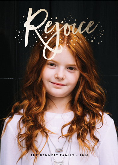 holiday photo cards - Rejoice by Erica Krystek
