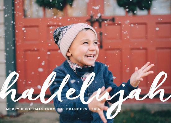 holiday photo cards - Holy Hallelujah by Alex Cottles
