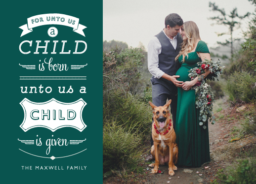 holiday photo cards - quoted greeting by ashnee eiram