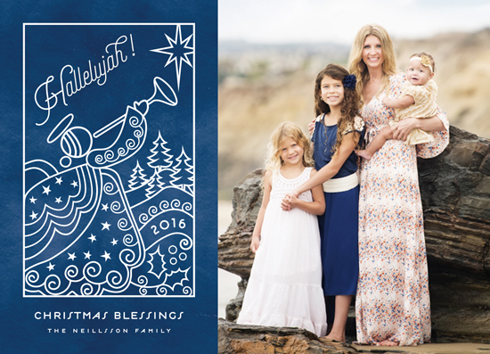 holiday photo cards - Angels we have heard on high by Chris Griffith