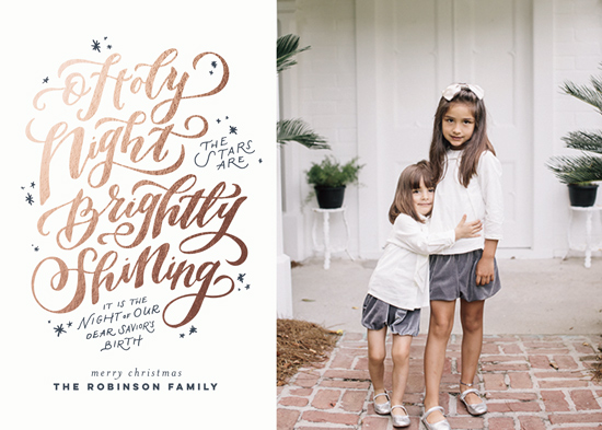 holiday photo cards - O Holy Night by Wildfield Paper Co.