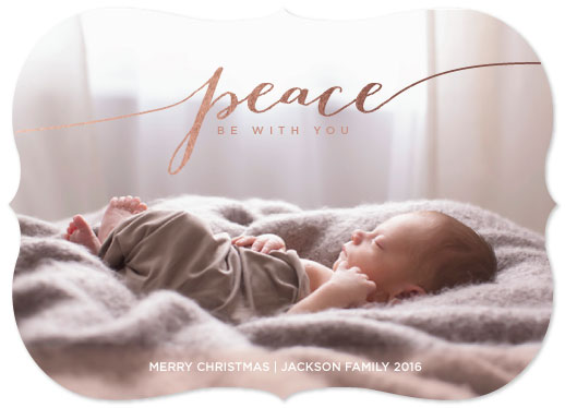holiday photo cards - Peace_Be With You by Katrina Marie