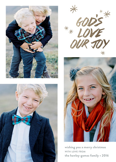 holiday photo cards - Our Joy by Carol Fazio