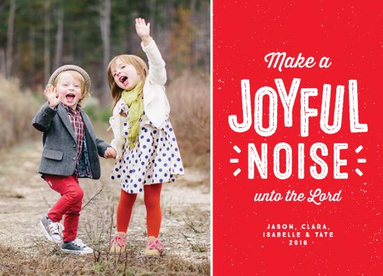 holiday photo cards - Joyful and noisy by Lea Delaveris