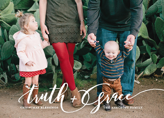 holiday photo cards - Truth + Grace by Kaydi Bishop